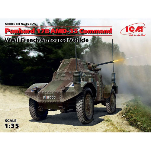 BICM35375 1/35 Panhard 178 AMD-35 Command, WWII French Armoured Vehicle