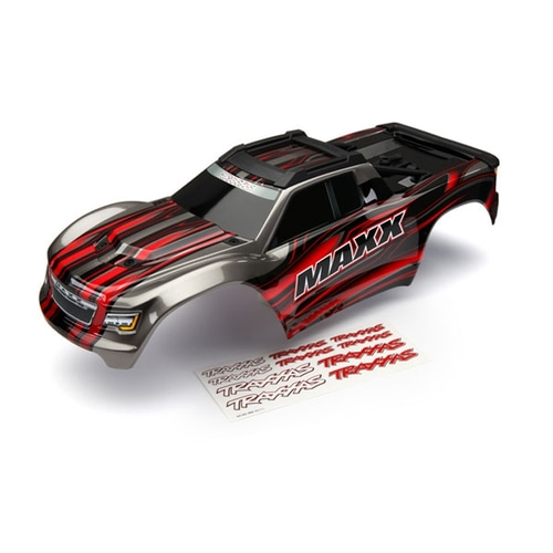 AX8911R Body, Maxx®, RED (painted)/ decal sheet