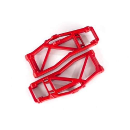 AX8999R Suspension arms, lower, red (left and right, front or rear) (2) (for use with #8995 WideMAXX™ suspension kit)