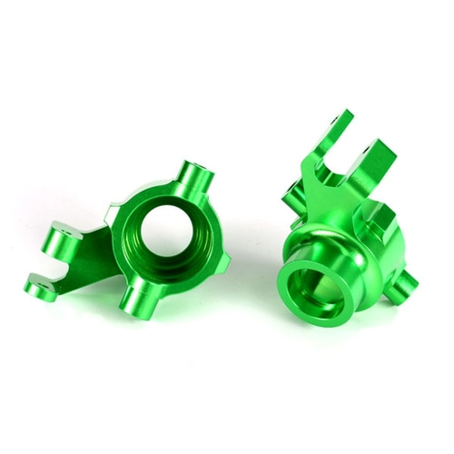 AX8937G Steering blocks, 6061-T6 aluminum (green-anodized), left & right