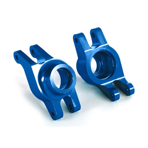 AX8952X Carriers, stub axle (blue-anodized 6061-T6 aluminum) (rear) (2)