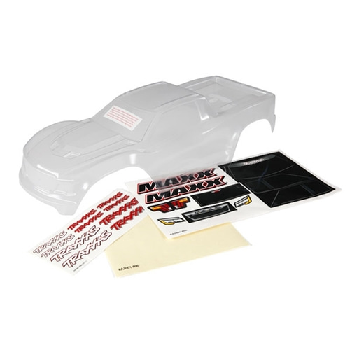 AX8911 Body, Maxx® (clear, untrimmed, requires painting)/ window masks/ decal sheet