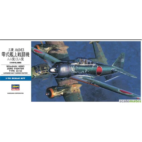 BH01456 1/72 Mitsubishi A6M3 Zero Fighter Type 22/32