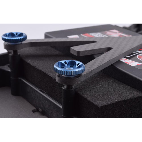 AR0264-BL *B5/B5M/T5M/SC5M Battery Plate Thumb Nut Set (blue)