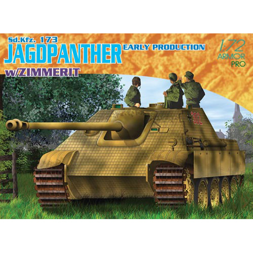 BD7241 1/72 1/72 Jagdpanther Early Production w/Zimmerit Coating