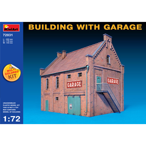 BE72031 1/72 Building with Garage(다색 사출 제품)