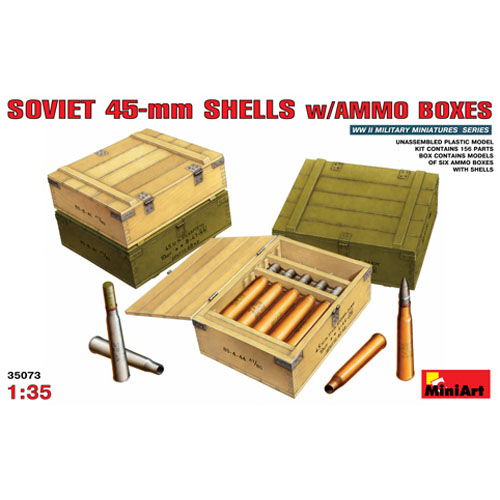 BE35073 1/35 Soviet 45mm Shells w/Ammo Boxes
