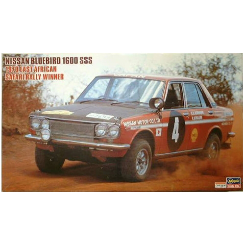 BH21266 HR6 1/24 Nissan Bluebird 1600 SSS 1970 East African Safari Rally Winner(데칼 손상)