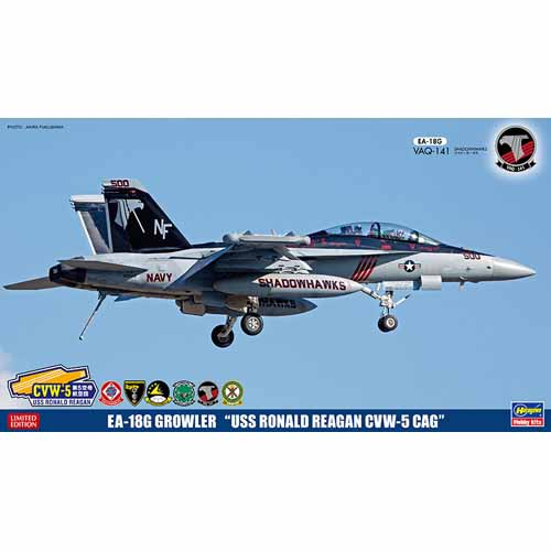 BH52144 SP344 1/72 EA-18G Growler™ USS Ronald Reagan CVW-5 CAG-패치 포함
