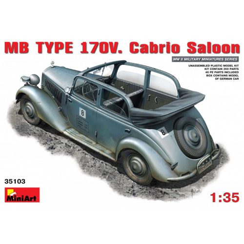 BE35103 1/35 MB TYPE 170V Cabrio Saloon