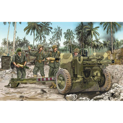 BD6531 1/35 105mm Howitzer M2A1 & Carriage M2A2 w/USMC Gun Crew ~ Smart Kit-박스 손상 할인 제품