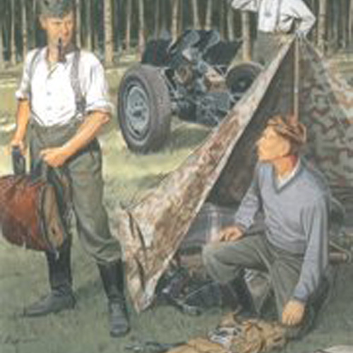 BD6695 1/35 German Wehrmacht Bivouac (3 Figures Set with Zeltbahn)