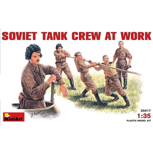 BE35153 1/35 Soviet Tank Crew at Work. Special Edition