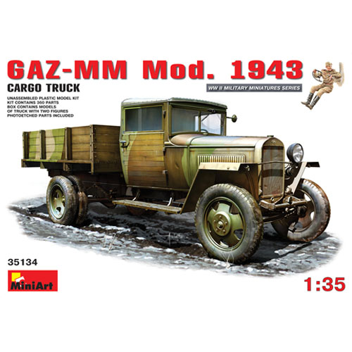 BE35134 1/35 GAZ-MM Mod.1943 Cargo Truck (인형 2개 에칭포함)