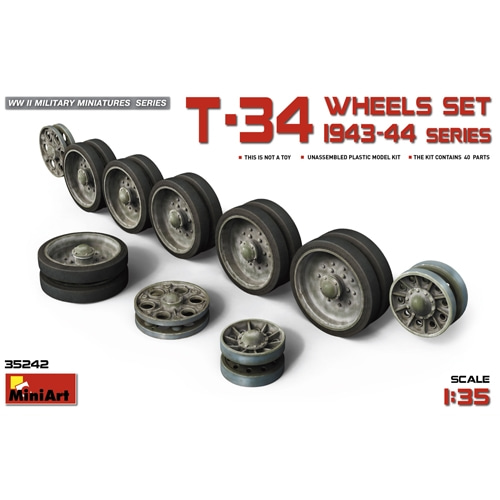BE35242 T-34 Wheels Set. 1943-44 Series