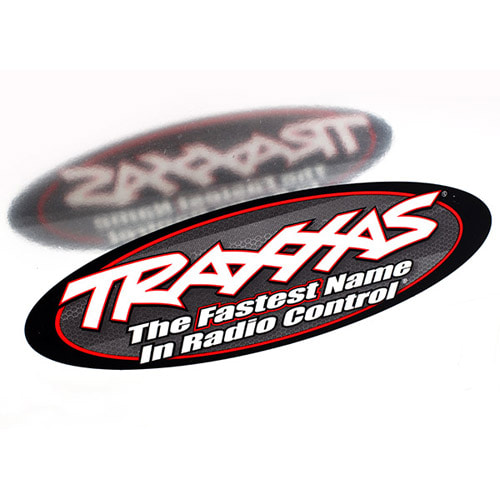 "AX6152 TRAXXAS 9"" OVAL DECAL 2 SIDED"