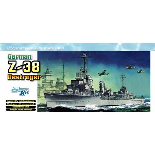 BD7134 1/700 German Z-38 Destroyer - Smart Kit